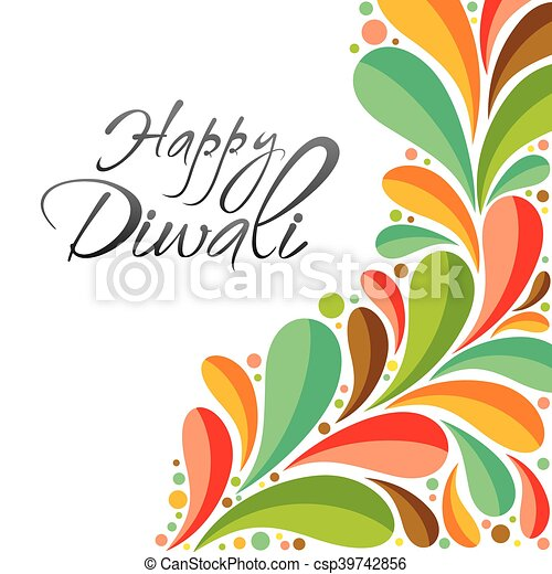 Happy diwali greeting card design colorful happy diwali clipart happy diwali greeting card design csp39742856 m4hsunfo