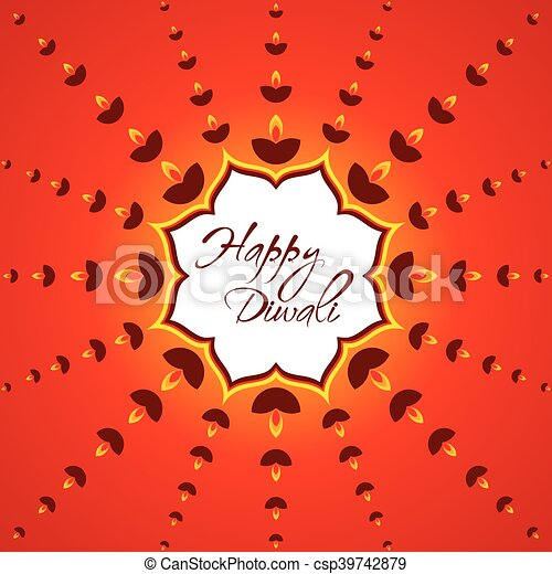 Creative happy diwali greeting card design vector happy diwali greeting card design csp39742879 m4hsunfo
