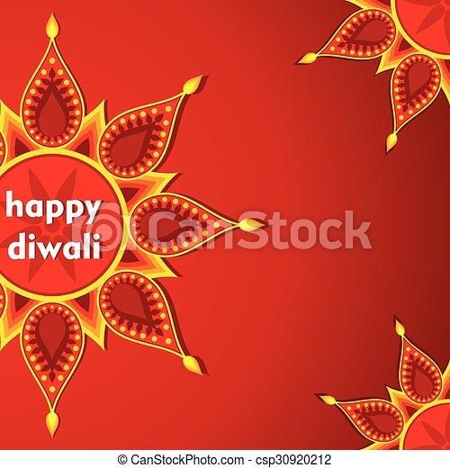 Creative happy diwali greeting card design vector happy diwali greeting card design csp30920212 m4hsunfo