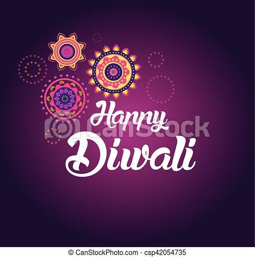 Happy diwali greeting card for hindu community indian festival happy diwali greeting card for hindu community indian festival csp42054735 m4hsunfo