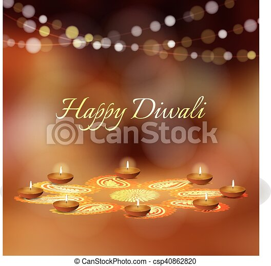 Happy diwali greeting card invitation indian festival of lights happy diwali greeting card invitation indian festival of lights diya oil lit lamps and rangoli m4hsunfo