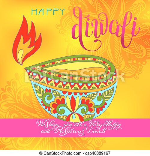 Happy diwali greeting card with hand written inscription to indian happy diwali greeting card with hand written inscription csp40889167 m4hsunfo