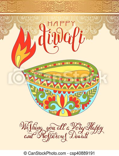 Happy diwali greeting card with hand written inscription to indian happy diwali greeting card with hand written inscription to indi csp40889191 m4hsunfo