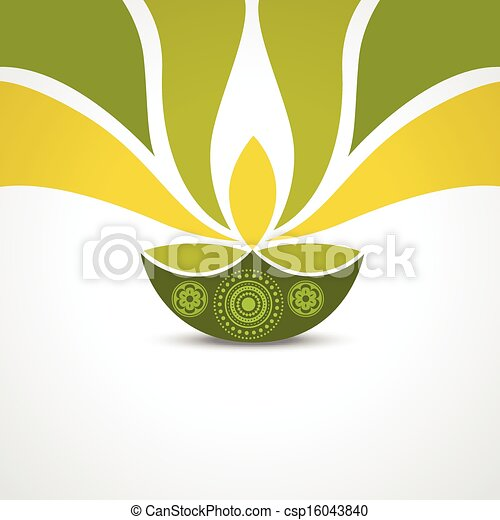 Happy diwali greeting vector green style happy diwali design happy diwali greeting csp16043840 m4hsunfo