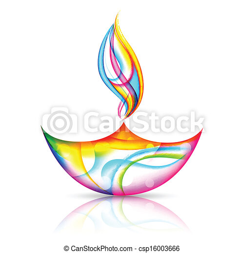 illustration of colorful diya for happy diwali holiday clip art rh canstockphoto com diwali clipart pics diwali clipart pictures