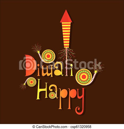 Happy Diwali Poster With Crackers Creative Poster Of Festival
