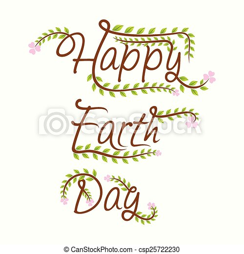 happy earth day design - csp25722230