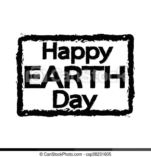 HAPPY Earth Day Illustration design - csp38231605