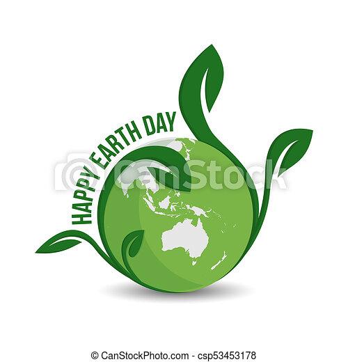 Happy Earth Day Logo Designve Earth Logoearth Globe Symbol