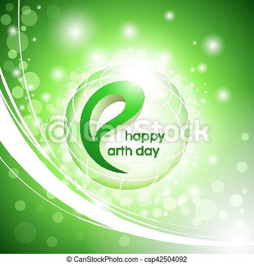 Happy Earth Day. Vector design illustration. - csp42504092