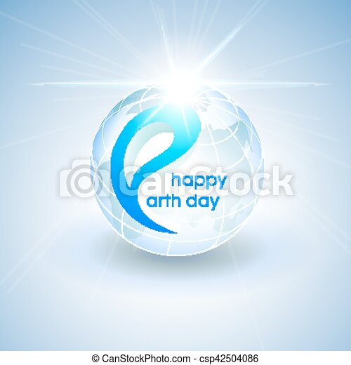 Happy Earth Day. Vector design illustration. - csp42504086