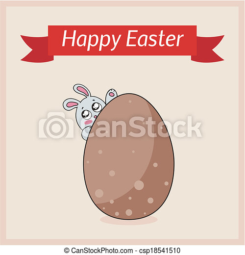 Happy Easter Card Template Vector Clip Art  Search Illustration