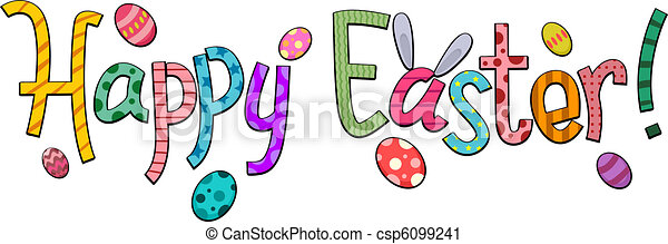 happy easter text featuring easter greetings rh canstockphoto com happy easter clip art free for facebook happy easter clip art cartoon