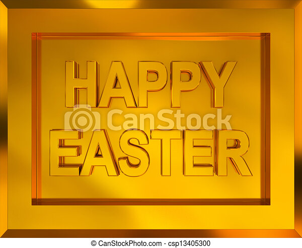 Happy Easter - csp13405300