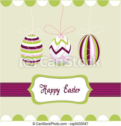 happy easter, eggs - csp5433047