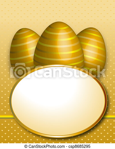 Happy Easter Greeting Card - csp8685295