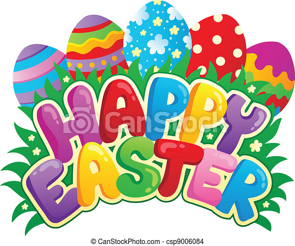 Happy Easter sign theme image 3 - csp9006084