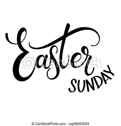 Happy easter sunday lettering hand written easter phrases seasons happy easter sunday lettering csp56053034 m4hsunfo