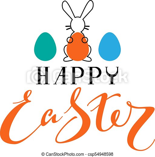 happy easter text greeting card rabbit silhouette holding eps rh canstockphoto com greeting card clipart free christmas greeting card clipart