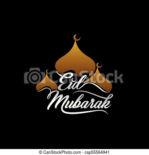 Happy eid festival greeting design creative eid mubarak text happy eid festival greeting design csp55564941 m4hsunfo