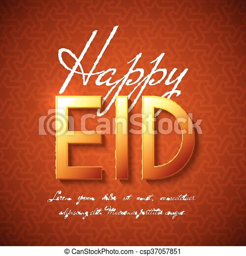 Happy eid islamic greeting background vector festive design for happy eid islamic greeting background csp37057851 m4hsunfo