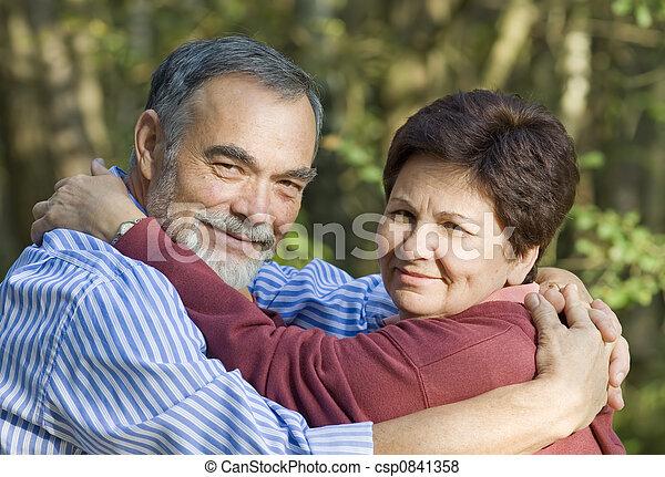 Happy elderly couple - csp0841358