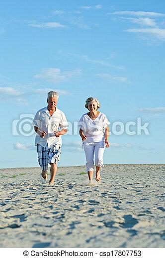 Happy elderly couple - csp17807753