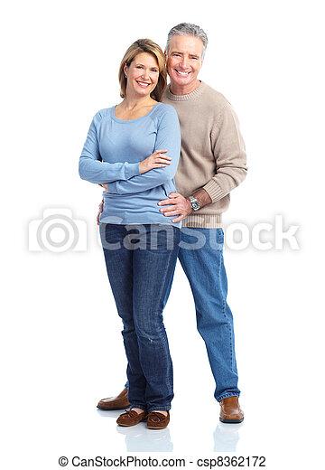 Happy elderly couple. - csp8362172