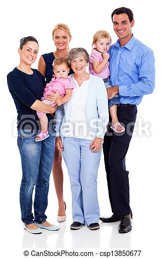 happy extended family - csp13850677