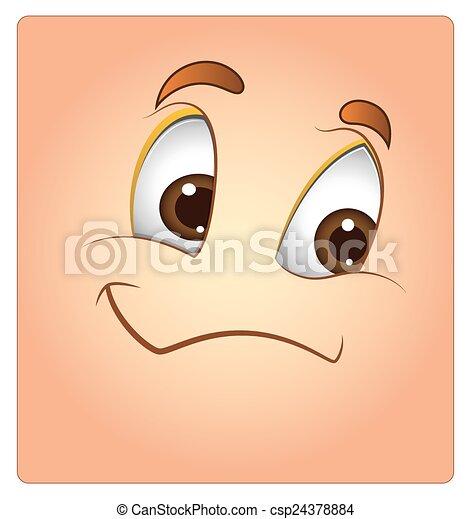 Happy Face Box Smiley - csp24378884