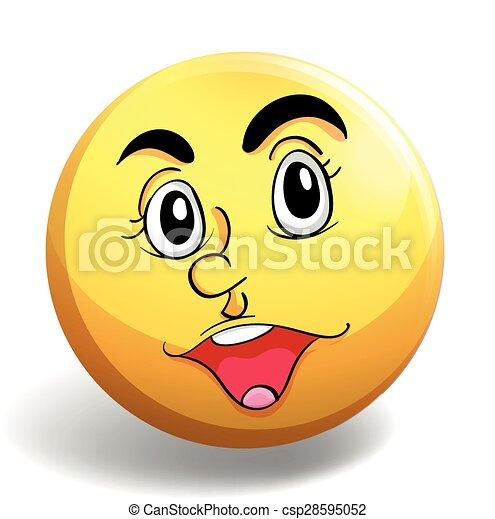 Happy face - csp28595052