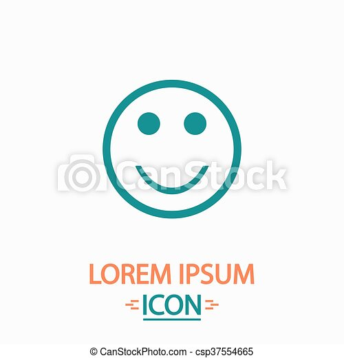 Happy Face Computer Symbol Happy Face Flat Icon On White Background