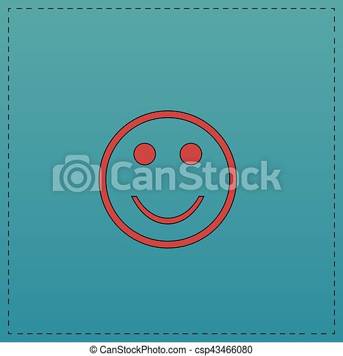 Happy Face Computer Symbol Happy Face Red Vector Icon With