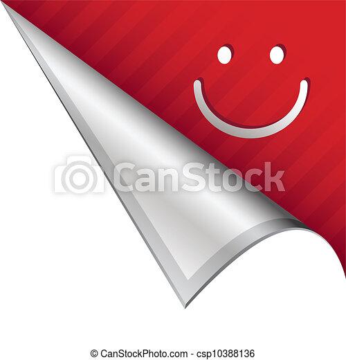 Happy face corner tab - csp10388136