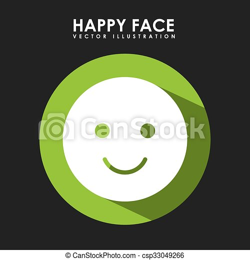 happy face design - csp33049266