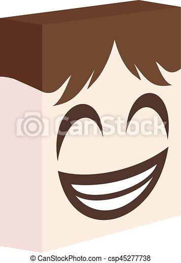 happy face design - csp45277738