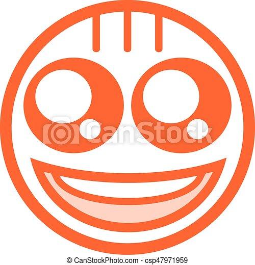 happy face flat icon - csp47971959