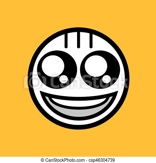 happy face icon design - csp46304739