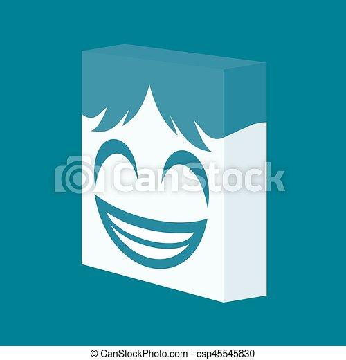 happy face icon - csp45545830