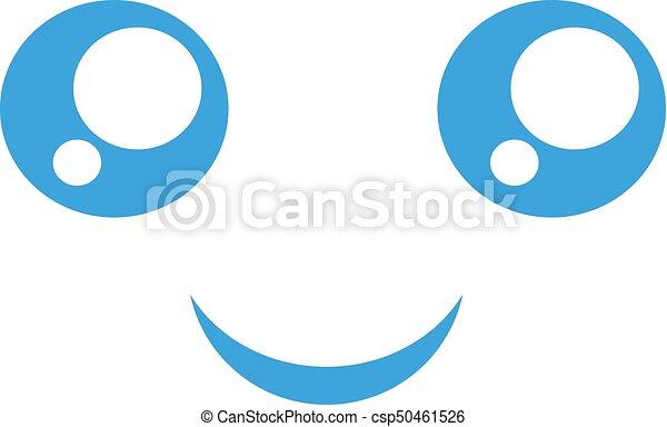 happy face icon - csp50461526