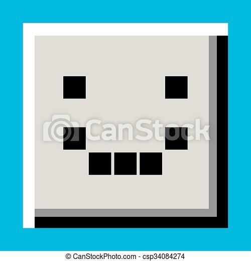 happy face icon - csp34084274