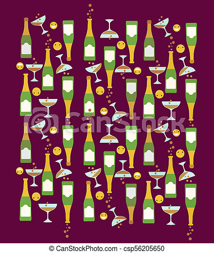 happy face icon party pattern theme - csp56205650