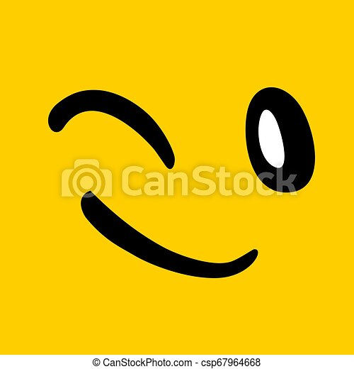 happy face illustration - csp67964668