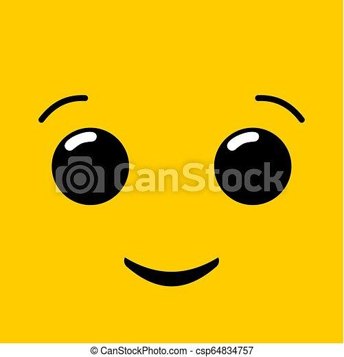 happy face illustration - csp64834757