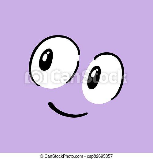 happy face illustration - csp82695357