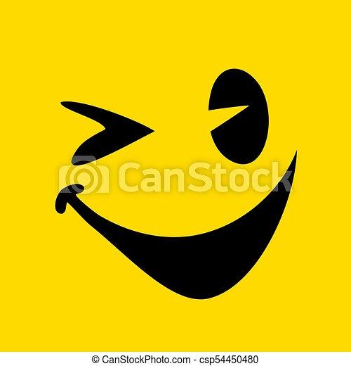 happy face illustration - csp54450480