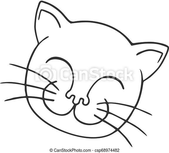 happy face illustration - csp68974482