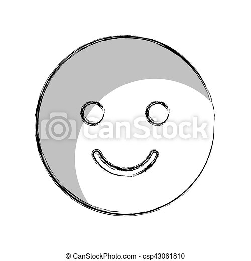 happy face isolated icon - csp43061810