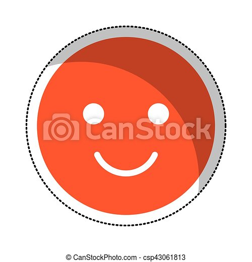 happy face isolated icon - csp43061813