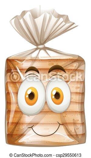 Happy face on bread - csp29550613